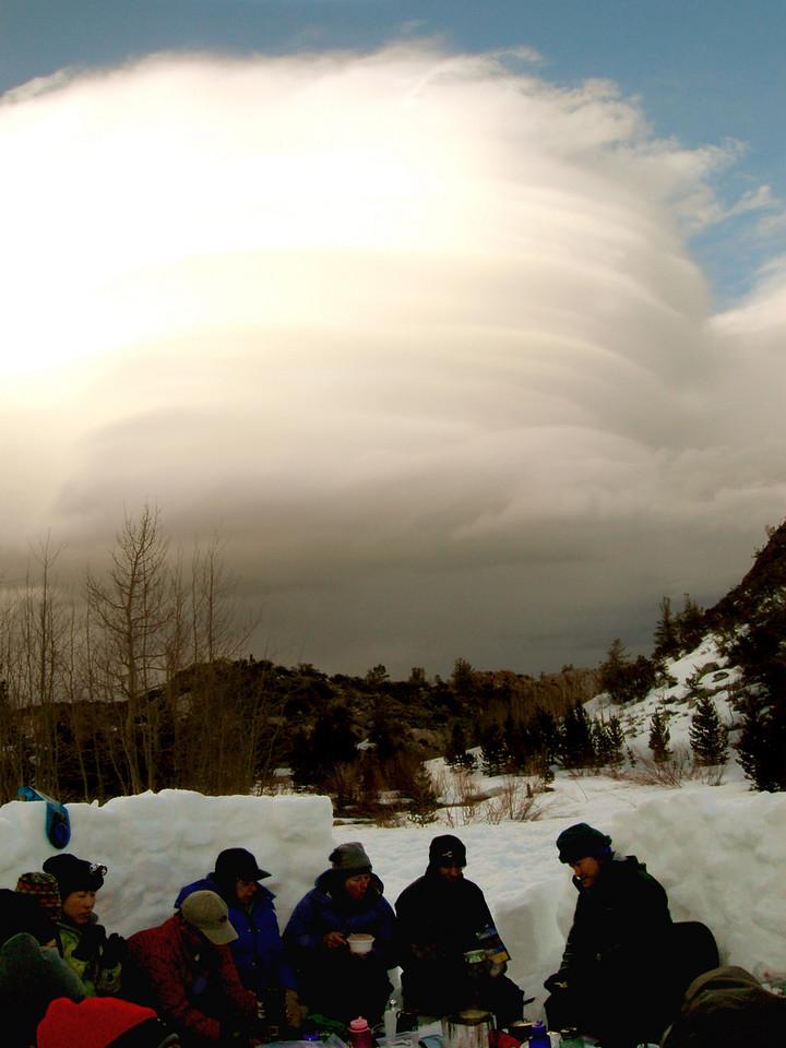 The alien cloud hovering over Rock Creek.