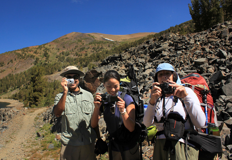 This is a photo & nav trip, so everyone has a camera or two