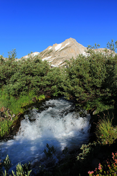 snowmelt creates torrents of water at outlet