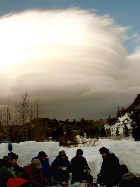 The alien cloud hovering over Rock Creek.