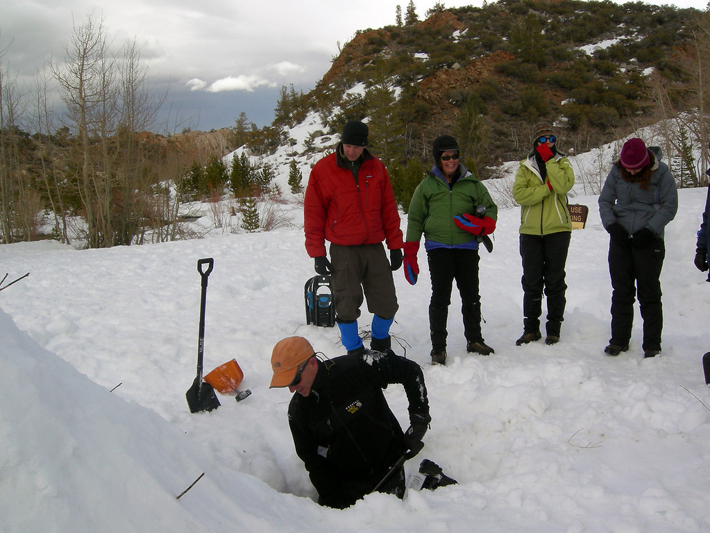 Digging out the Quin-Zhee hut.