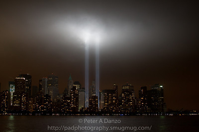 WTC 9/11 tribute lights.  09-11-11
