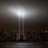 WTC 9/11 tribute lights.  09-11-11