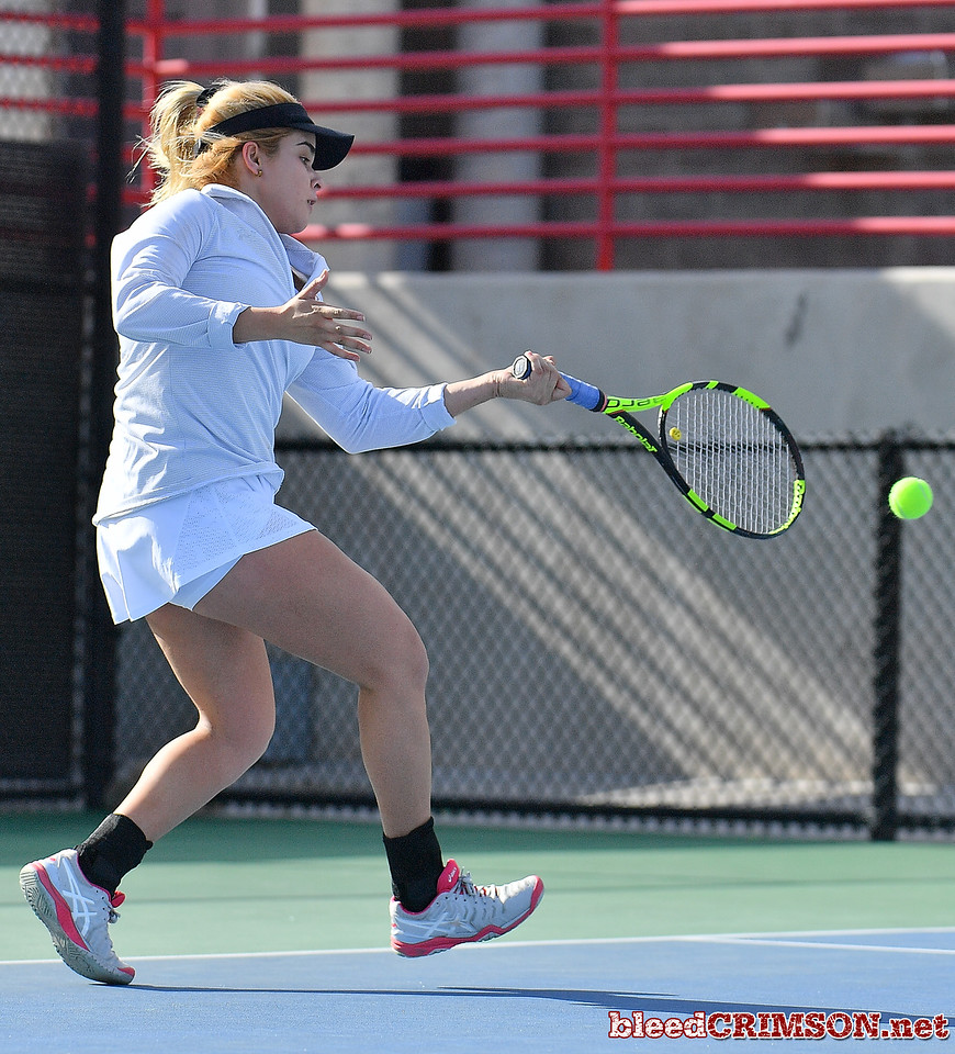 LAS VEGAS, NV - JANUARY 20:  during a match between the New Mexico State Aggies and the Weber State Wildcats at the Frank and Vicki Fertitta Tennis Complex in Las Vegas, Nevada.  Photo by Sam Wasson/bleedCrimson.net