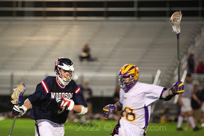 WT Woodson Varsity Lacrosse at Lake Braddock, Fairfax, Virginia