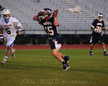 """WT Woodson Varsity High School Lacrosse at Robinson High School"""