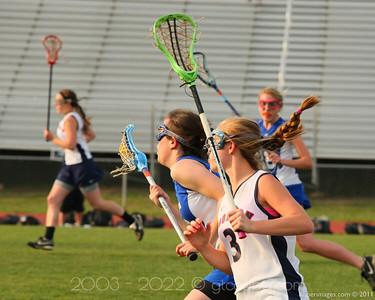 WT Woodson Girl's Varsity Lacrosse vs West Potomac High School