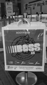 Onsite branding: Plastic tote bags