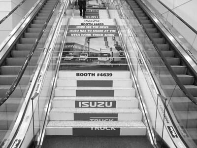 Onsite branding: Stair signage