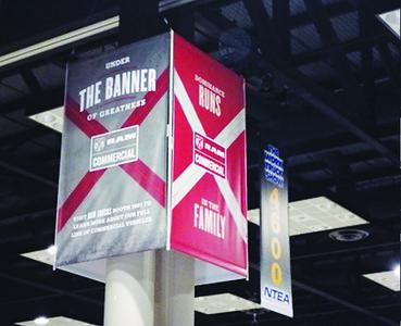 Onsite branding: Exhibit Hall column wraps
