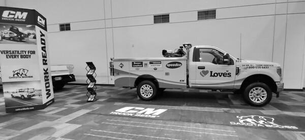 Onsite branding: Truck banner display, Hoosier Hallway