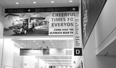 Onsite branding: Convention Center Hallway Banner