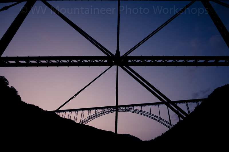 New River Gorge Bridge from Fayette Station Bridge - Fayetteville West Virginia