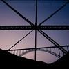 New River Gorge Bridge from Fayette Station Bridge - Fayetteville West Virginia