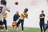 The West Virginia Mountaineer Football Team participates in the first day of spring practice at the Indoor Practice Facility March 14th, 2017.