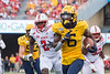 Michael Boaitey runs upfield with the ball. WVU Football competed against NC State at Milan Puskar Stadium on September 14, 2019. (WVU Photo/Hunter Tankersley)