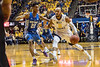 WVU Mountaineer men's basketball  action vs the  Kentucky Wildcats.  Kentucky rallied  from a 17 point deficit winning 83-76 January 27, 2018. Photo Greg Ellis