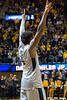 Senior guard Daxter Miles Jr. acknowledges the crowd at the Coliseum before his final home game on February 26, 2018. The Mountaineers went on to defeat Texas Tech 84 - 74.