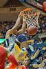 Sagaba Konate slams a powerful dunk against Texas Tech in the Coliseum on February 26, 2018.