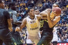 WVU Men's basketball action beating the Baylor Bears 57-54, January 9, 2018. Photo Greg Ellis