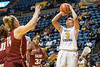 WVU women downs St. Joseph's in WNIT basketball action at the WVU Colisium March 18; 2018. Photo Greg Ellis