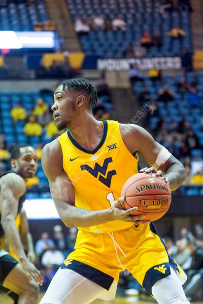 WVU Men's Basketball VS Kansas State at the Coliseum on February 18, 2019.
