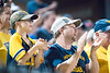 Fans cheer on the Mountaineers as they face off in their first game of the NCAA Regional on May 31, 2019 at Monongalia County Ballpark. Photo Parker Sheppard