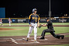 Kevin Brophy celebrating during WVU's first game of the NCAA Regional on May 31, 2019 at Monongalia County Ballpark. Photo Parker Sheppard