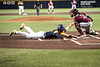 Kevin Brophy sliding into home plate during WVU's first game of the NCAA Regional on May 31, 2019 at Monongalia County Ballpark. Photo Parker Sheppard