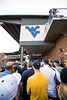 WVU fans enter for the first game of the NCAA Regional on May 31, 2019 at Monongalia County Ballpark. Photo Parker Sheppard