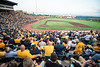 Full stands for the first game of the NCAA Regional on May 31, 2019 at Monongalia County Ballpark. Photo Parker Sheppard