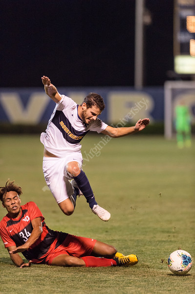 The WVU Men's Soccer Team challenged Dayton at the Dick Dlesk Stadium on September 21, 2019. (WVU Photo/Hunter Tankersley)