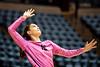 Kristina Jordan preparing to serve the ball. WVU Volleyball took on Texas Tech in the Coliseum November 16, 2019. (WVU Photo/Parker Sheppard)