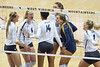 WVU Women's Volleyball challenged the Navy at the Coliseum on September 21, 2019.  (WVU Photo/Hunter Tankersley)