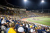 Full stands as WVU faced off against Duke in their second game of the NCAA Regional on June 1, 2019 at Monongalia County Ballpark. Photo Parker Sheppard