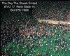 "Football WVU vs Penn State 1984 ""Finally"" post game<br /> The Day the streak Ended Oct 27th 1984"