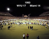 Football WVU vs Miami 1993 - end of game season record 10 - 0