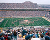 #1 Notre Dame played undefeated #3 West Virginia for the national championship at the Fiesta Bowl 1989 - band photo.