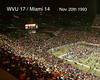 Football WVU VS MIAMI 1993 POST GAME season record 10 - 0
