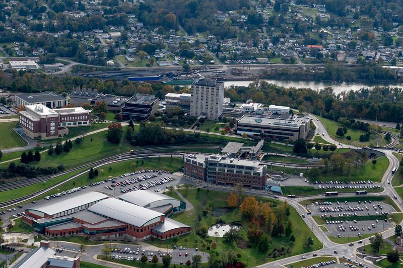 Aerials of evansdale campus