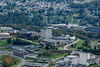 Aerials of Evansdale Campus with Engineering Buildings and CAC