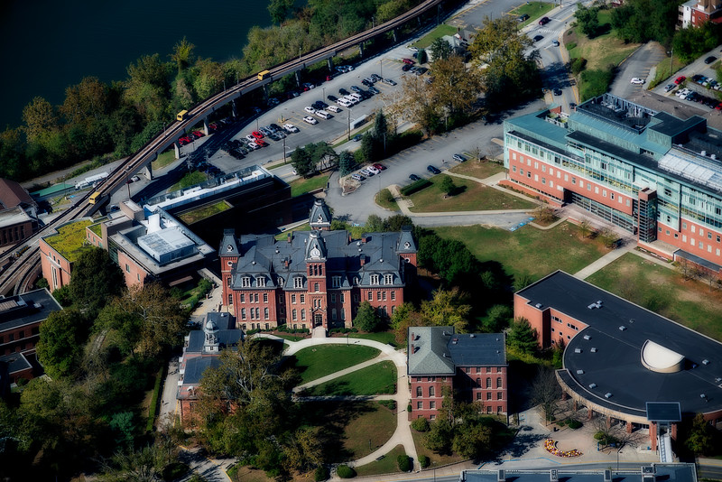 Aerial of Woodburn Hall