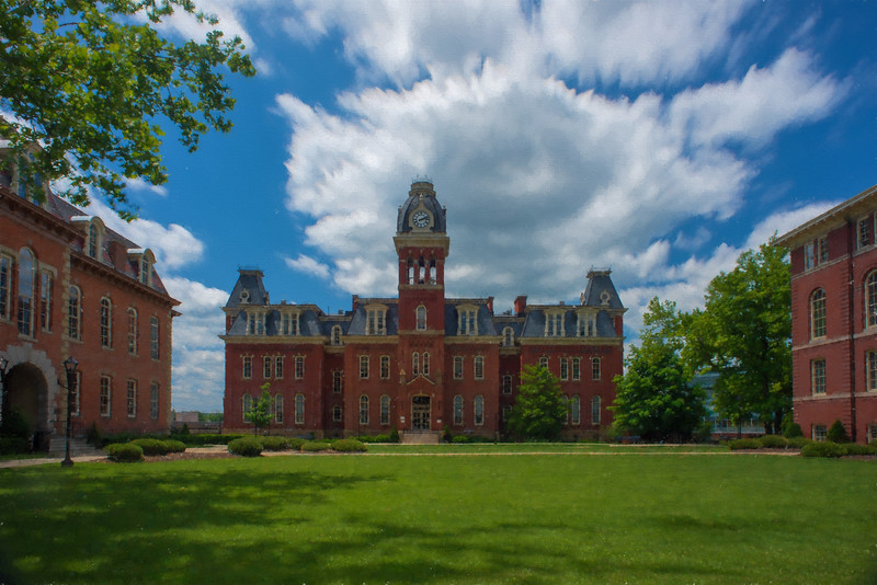 """Woodburn Hall summer paintography     ...................to purchase - <a href=""""http://bit.ly/1zcHicd"""">http://bit.ly/1zcHicd</a>"""