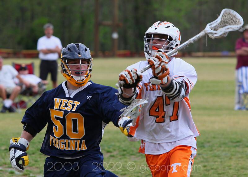 West Virginia University Lacrosse vs. University of Tennessee - April 21, 2012