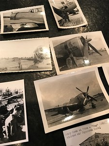 Various photos taken by Bade during his time serving in World War II in Italy. (Mark Cavitt/The Oakland Press)