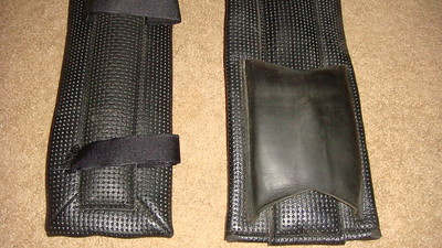 high quality waffle pads; leather insert for girth