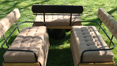 Bird-in-Hand carriage seats Maple w/bedford cloth $300 (for set)