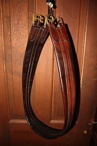 "46"" leather girth $25"