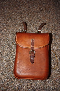 Leather trekking case $15 SOLD
