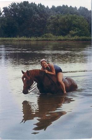 Swimming w/horses